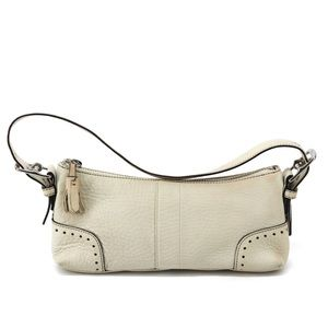 Coach | cream leather small shoulder bag